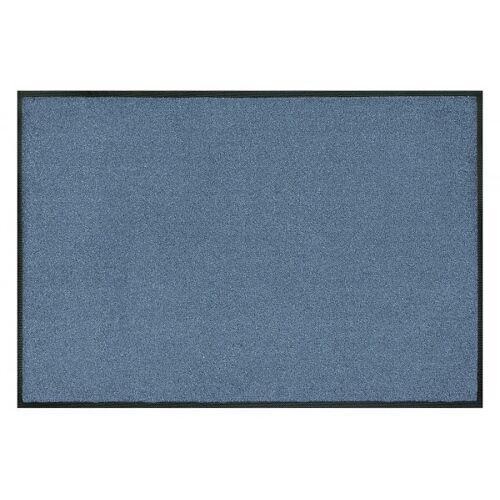 wash+dry Fußmatte Steel Blue waschbar 40x60cm