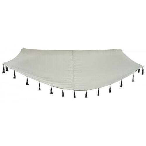 zeitzone Sonnensegel Grau mit Fransen Sonnenschutz 2 x 3 m Windschutz Garten Terrasse