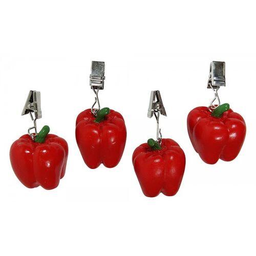 zeitzone Tischdeckengewichte Paprika Rot 4 Stück Tischtuchbeschwerer Tischdeckenhalter