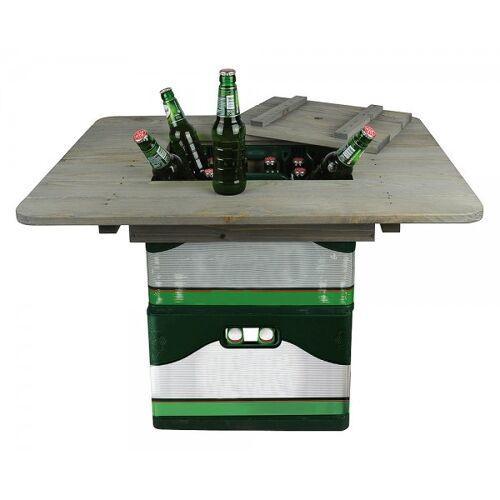 Esschert Design Bierkastentischaufsatz Holz Bierkistentisch Aufsatz Bistrotisch Stehtisch
