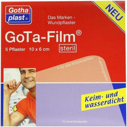 Gota Film Steril 10 X 6 cm Pflaster 5 Pflaster