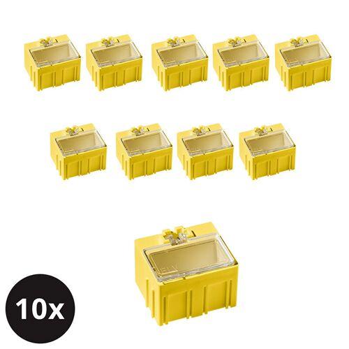 ELV 10er-Set ELV SMD-Sortierbox, Gelb, 23 x 31 x 27 mm
