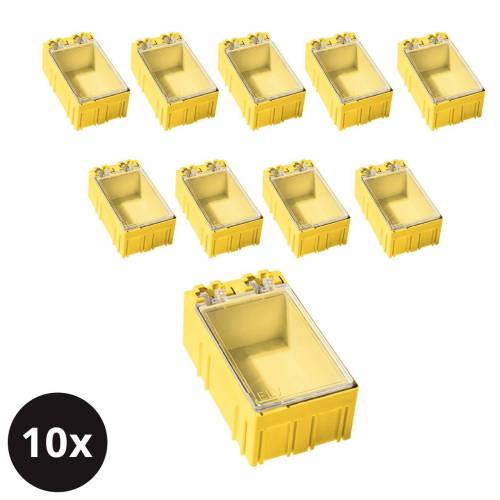 ELV 10er-Set ELV SMD-Sortierbox, Gelb, 23 x 31 x 54 mm
