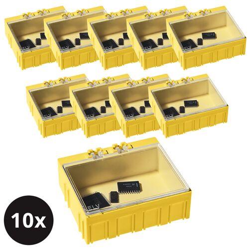 ELV 10er-Set ELV SMD-Sortierbox, Gelb, 23 x 62 x 54 mm