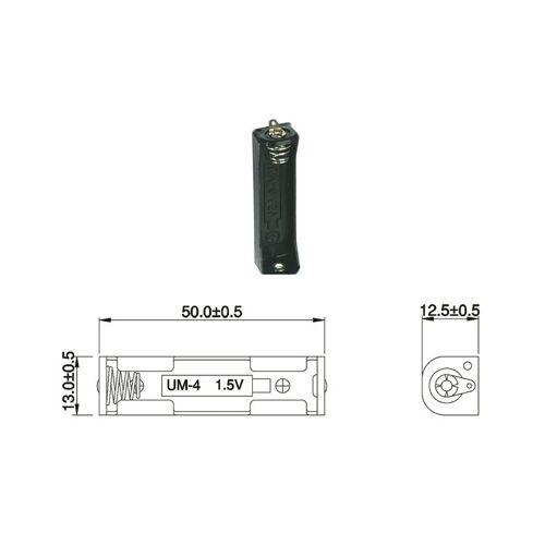 Wentronic Batteriehalter für 1 x Micro-Batterie mit Lötanschluss