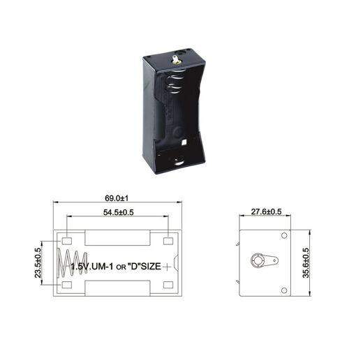 Wentronic Batteriehalter für 1 x Mono Batterie mit Lötanschluss