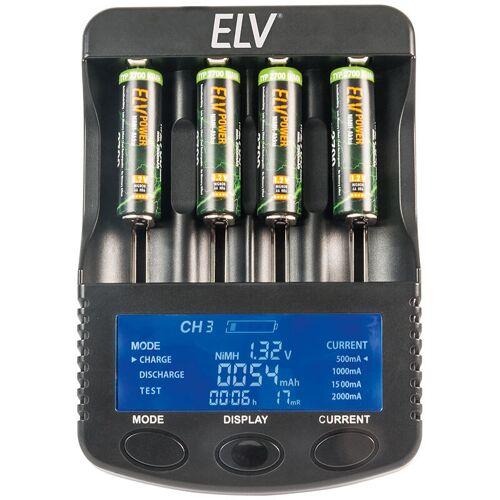 ELV 4-fach-Akkuladeger&#228 t und Analyzer ML10000 f&#252 r Li-Ion/NiCd/NiMH