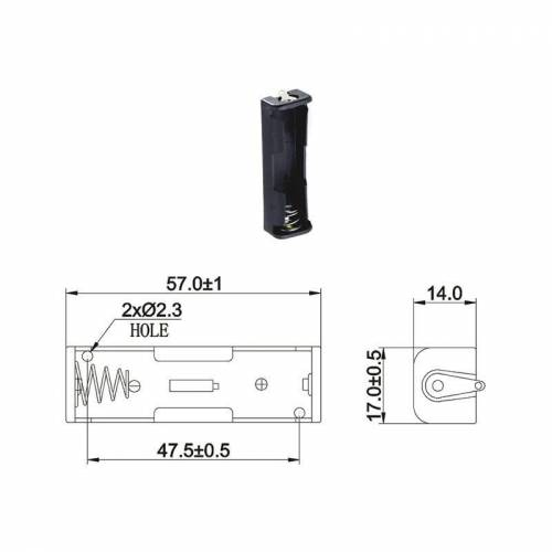 Wentronic Batteriehalter für 1 x Mignon Batterie mit Lötanschluss