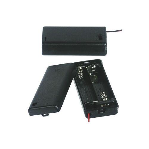 Wentronic Batteriehalter für 2 x Mignon Batterie mit Anschlusskabel
