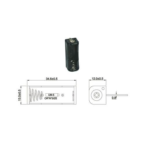 Wentronic Batteriehalter für 1 x Lady Batterie mit Lötanschluss