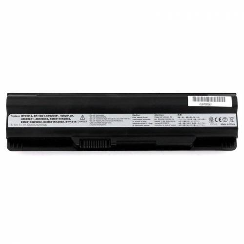 1 Yanec Laptop Akku 5200mAh für MSI FX400/FX600/FX700 Akoya E1311/E1312/E1315