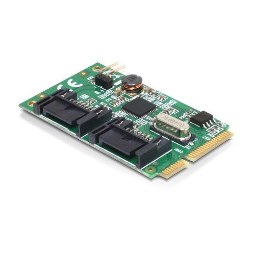 10 Delock MiniPCIe I/O PCIe full size 2 x SATA 6 Gb/s
