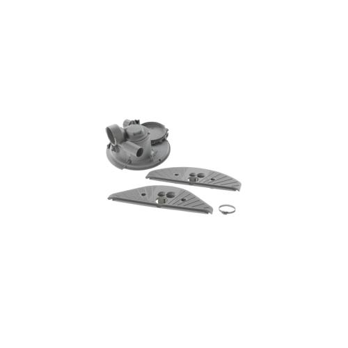 3 Bosch/Siemens Reparatursatz Pumpentopf kpl. (mit Abdeckung, Dichtung und Rückschlagventil)