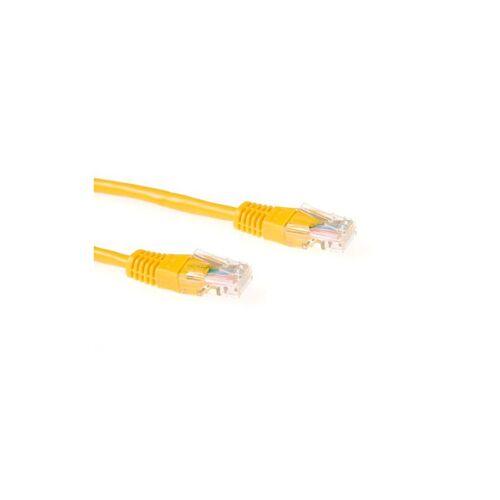 3 ACT Netzwerkkabel CAT6 U/UTP 5m Gelb