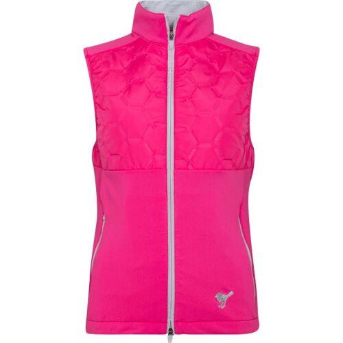 girls golf Weste Techy Bodywarmer pink