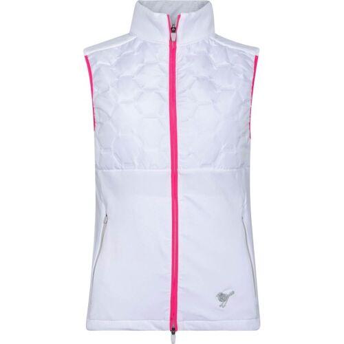 girls golf Weste Techy Bodywarmer weiß