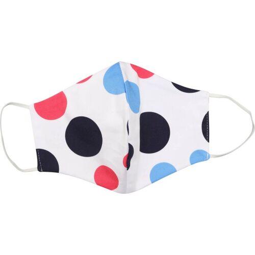 girls golf Maske für Mund und Nase weißschwarzrotblau