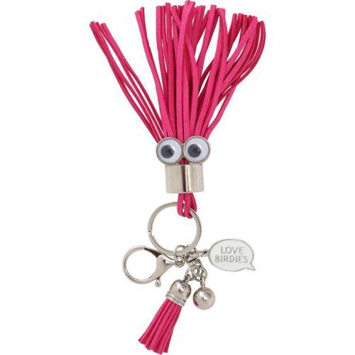 girls golf Anhänger Hot Pink Puschel