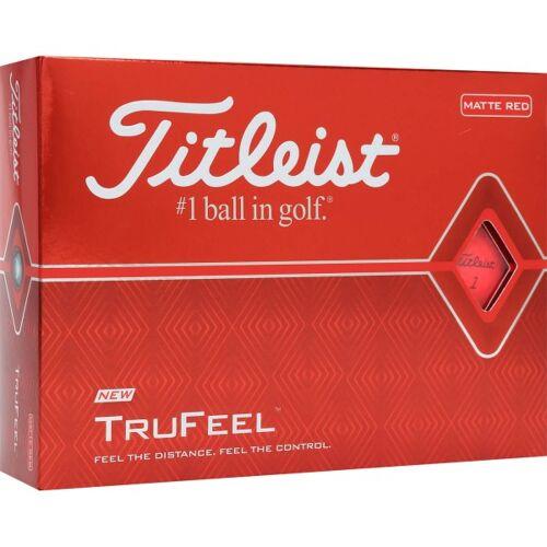 Titleist TruFeel Golfbälle rot