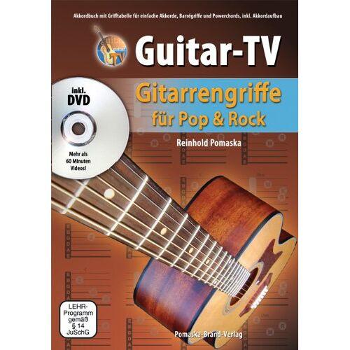 Reinhold Pomaska - Guitar-TV: Gitarrengriffe für Pop & Rock: Akkordbuch mit Grifftabelle für einfache Akkorde, Barrégriffe und Powerchords, inkl. Akkordaufbau - Preis vom 21.06.2021 04:48:19 h