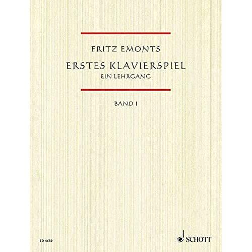 Fritz Emonts - Erstes Klavierspiel, Bd.1: Ein Lehrgang für den Anfangsunterricht. Band 1. Klavier - Preis vom 09.05.2021 04:52:39 h