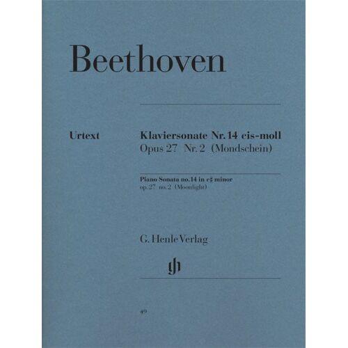 Beethoven, Ludwig Van - Sonate Nr. 14 cis-moll op. 27/2 (Mondscheinsonate). Klavier - Preis vom 06.05.2021 04:54:26 h