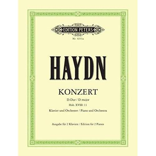 - Konzert d-Dur Hob 18/11 Op 21 - mit Kadenzen. Klavier, Klavier zu 4 Händen - Preis vom 21.01.2021 06:07:38 h