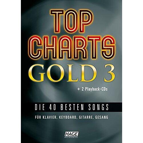 Helmut Hage - Top Charts Gold 3 (mit 2 CDs): Eine weitere geniale Sammlung der 40 besten Popsongs der letzten Jahre. (Top Charts Gold / Die 40 besten Songs für Klavier, Keyboard, Gitarre und Gesang) - Preis vom 21.10.2020 04:49:09 h