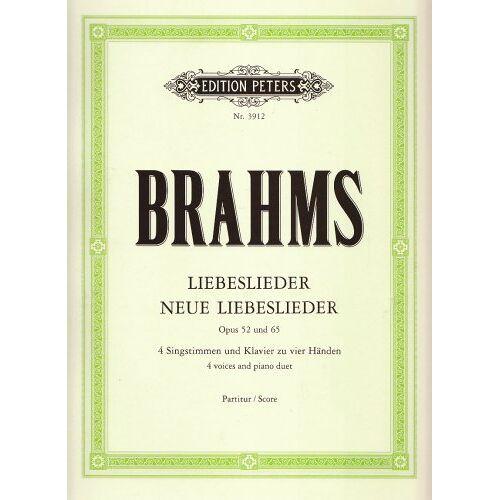 Johannes Brahms - Liebeslieder / Neue Liebeslieder op. 52 / 65: Walzer für 4 Singstimmen und Klavier zu 4 Händen - Preis vom 09.05.2021 04:52:39 h