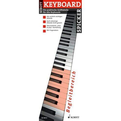 Uwe Bye - Keyboard Spicker: Die praktische Grifftabelle für alle Keyboards. Keyboard. - Preis vom 20.10.2020 04:55:35 h