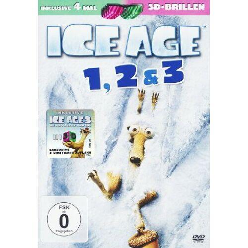Carlos Saldanha - Ice Age 1-3 DVD (3 DVDs) (+ anaglyphe 3D DVD) (+ 4 3D-Brillen) - Preis vom 17.05.2021 04:44:08 h
