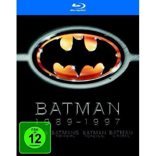 Tim Burton - Batman 1989-1997 (Batman / Batmans Rückkehr / Batman Forever / Batman & Robin) [Blu-ray] [4 Blu-rays] - Preis vom 17.06.2021 04:48:08 h