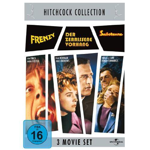 Alfred Hitchcock - Hitchcock-Collection: Frenzy / Der zerrissene Vorhang / Saboteure [3 DVDs] - Preis vom 18.04.2021 04:52:10 h