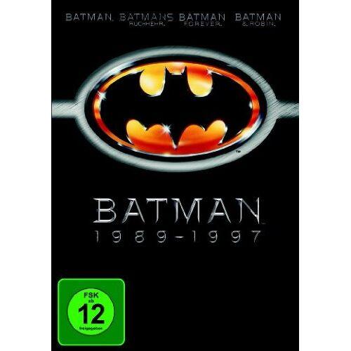 Tim Burton - Batman 1989-1997 (Batman / Batmans Rückkehr / Batman Forever / Batman & Robin) [4 DVDs] - Preis vom 23.02.2021 06:05:19 h