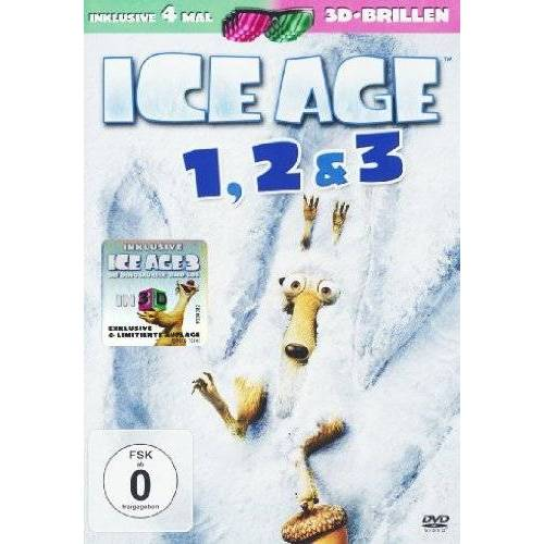 Carlos Saldanha - Ice Age 1-3 DVD (3 DVDs) (+ anaglyphe 3D DVD) (+ 4 3D-Brillen) - Preis vom 27.02.2021 06:04:24 h
