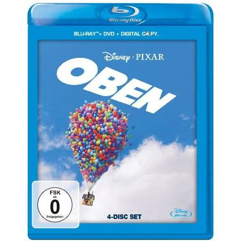 Peter Docter - Oben (+ DVD + Digital Copy) [Blu-ray] - Preis vom 10.09.2020 04:46:56 h