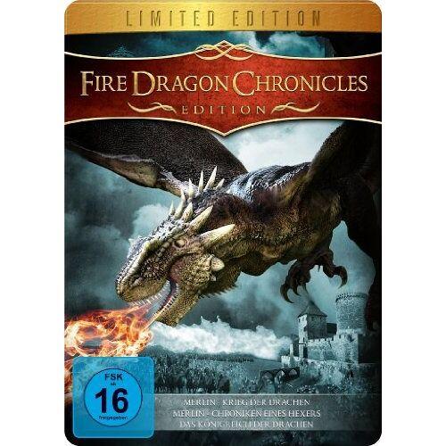 Mark Atkins - Fire Dragon Chronicles Edition (Merlin und der Krieg der Drachen, Merlin - Die Chroniken eines Hexers & Das Königreich der Drachen) - Metal-Pack [Limited Edition] - Preis vom 03.05.2021 04:57:00 h