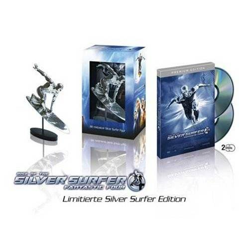 Chris Evans - Fantastic Four - Rise of the Silver Surfer (Premium Edition + Limitierte Silver Surfer Edition, 2 DVDs mit Figur) - Preis vom 13.04.2021 04:49:48 h