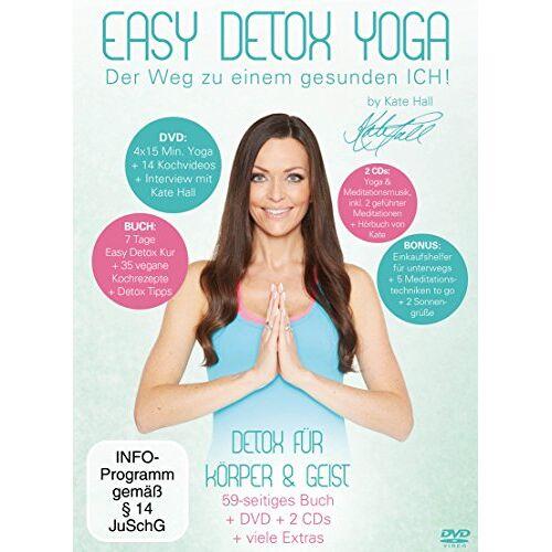 Kate Hall - Easy Detox Yoga (+ CD) (+ Hörbuch) (inkl. Einkaufshelfer in Kreditkartengröße & Kochbuch) [3 DVDs] - Preis vom 27.02.2021 06:04:24 h