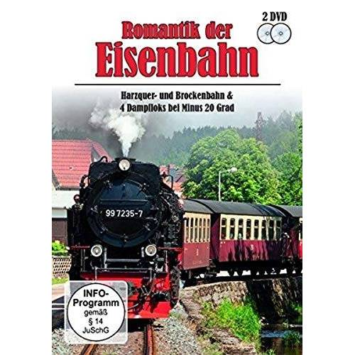 - Romantik der Eisenbahn - Harzquer- und Brockenbahn & 4 Dampfloks bei Minus 20 Grad [2 DVDs] - Preis vom 24.11.2020 06:02:10 h