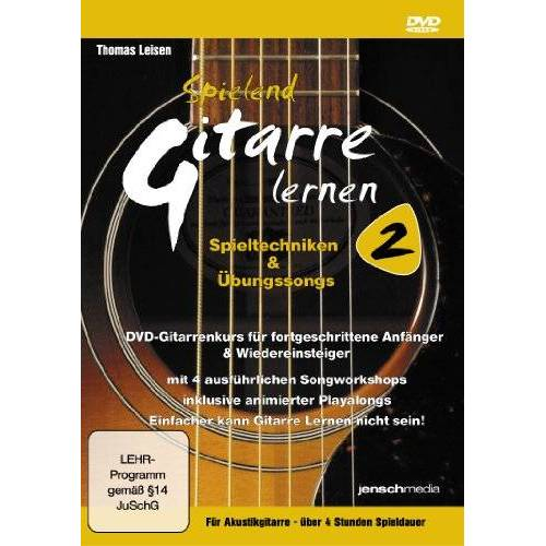 Jürgen Jensch - Spielend Gitarre Lernen 2 (DVD) Spieltechniken & Übungssongs - Aufbaukurs für Akustikgitarre - Preis vom 13.06.2021 04:45:58 h