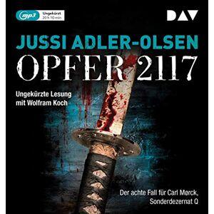 Jussi Adler-Olsen - Opfer 2117. Der achte Fall für Carl Mørck, Sonderdezernat Q: Ungekürzte Lesung mit Wolfram Koch (2 mp3-CDs) - Preis vom 15.05.2021 04:43:31 h