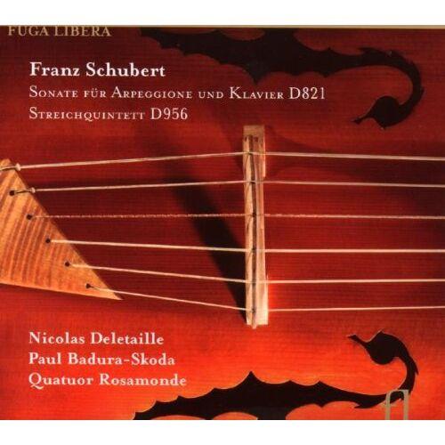 Nicolas Deletaille (Arpeggione / Violoncello) - Franz Schubert: Sonate für Arpeggione und Klavier D821 / Streichquintett D956 - Preis vom 28.02.2021 06:03:40 h