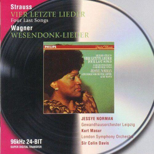 Norman Vier letzte Lieder (R. Strauss), Wesendonk-Lieder (R. Wagner) - Preis vom 03.12.2020 05:57:36 h