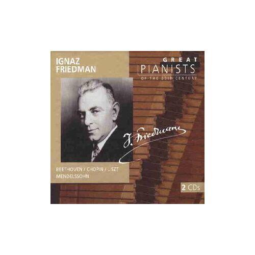 Ignaz Friedman - Die großen Pianisten des 20. Jahrhunderts - Ignaz Friedman - Preis vom 06.05.2021 04:54:26 h