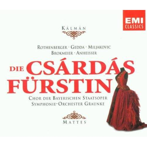 Rothenberger - Emmerich Kálmán: Die Csárdásfürstin (Operette) (Gesamtaufnahme) (2CD) - Preis vom 21.10.2020 04:49:09 h