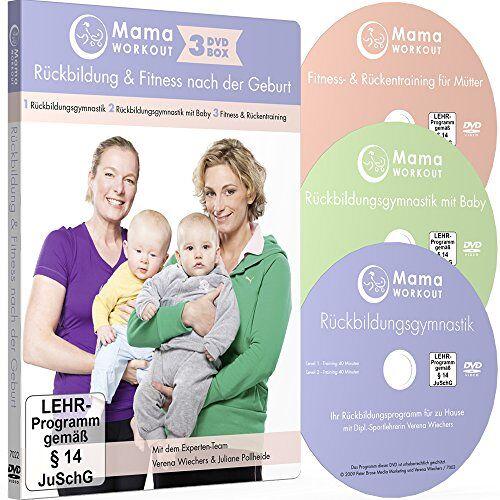 Verena Wiechers - MamaWORKOUT - Rückbildung & Fitness nach der Geburt - 3-DVD-Box zum Sparpreis ++ 1. Rückbildungsgymnastik ++ 2. Rückbildungsgymnastik mit Baby ++ 3. ... für Mütter ++ von Expertin Verena Wiechers - Preis vom 06.04.2021 04:49:59 h