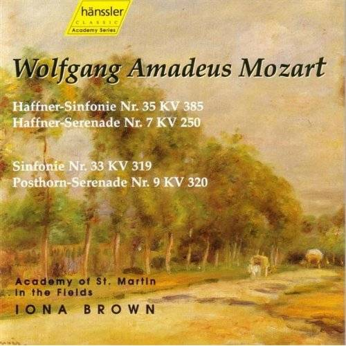 - Haffner-Sinfonie Nr. 35 KV 385 / Haffner Serenade Nr. 7 KV 250 / Sinfonie Nr. 33 KV 319 / Posthorn-Serenade Nr. 9 KV 320 - Preis vom 15.04.2021 04:51:42 h