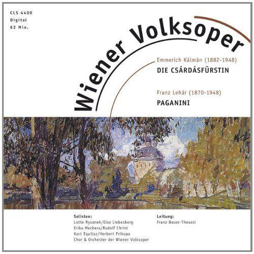 Kalman, E.-Lehar, Franz - Csardasfürstin / Paganini - Preis vom 05.03.2021 05:56:49 h