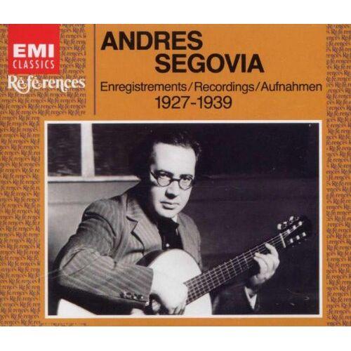 Andres Segovia - Segovia Guitar Recital-1927-39 - Preis vom 05.09.2020 04:49:05 h